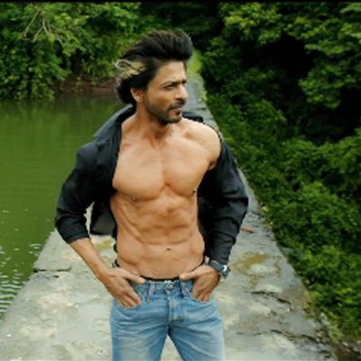 Shah Rukh Khan -- HAPPY NEW YEAR movie bod.