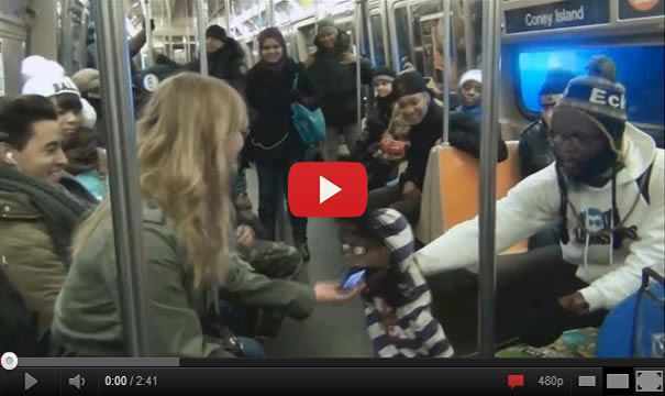 Ventriloquist Picking Up Girls On The Subway
