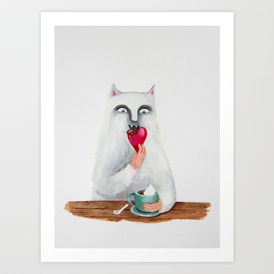 Breakfast Art Print by Elena Goatelli - $20.00