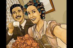 Profesor Jirafales y Doña Florinda #Selfie #Art