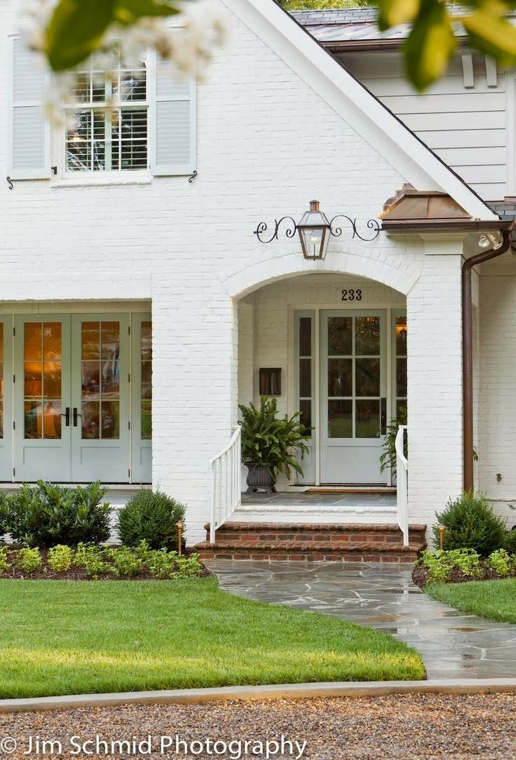 Brick Homes Across The Country Are Getting Facelifts With Fresh Coats Of Paint Tudor Traditional And Even Ranch Styles Perfect Candid