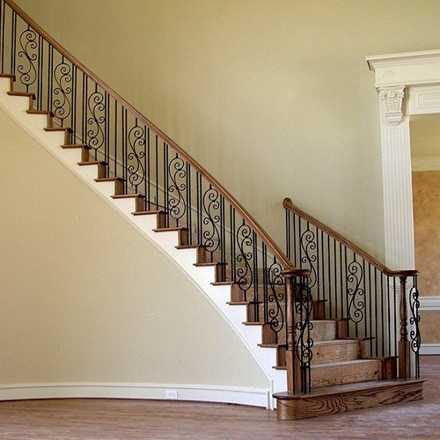 Staircase by House of Forgings #stairs #staircase #scroll #inspiration #scroll #inspiration #art #artwork #love #unique #amazing #home #homedecor #design #photo #photooftheday #photography #style #insta #instagood #instadaily #contemporary #traditional #homesweethome #decor #architecture #archilovers