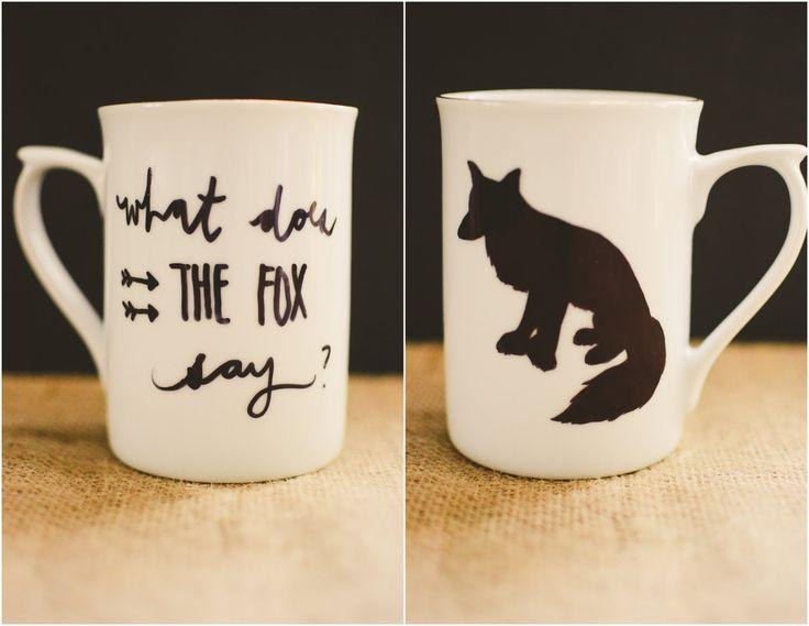 "p.s.♡: diy: ""what does the fox say?"" sharpie mug"