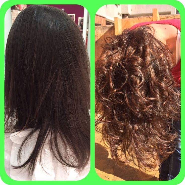 Prima e dopo Degradè Joelle e taglio punte aria #cdjalemary #tortolí #degradè #capelli luminosi #sfumature #hairlong