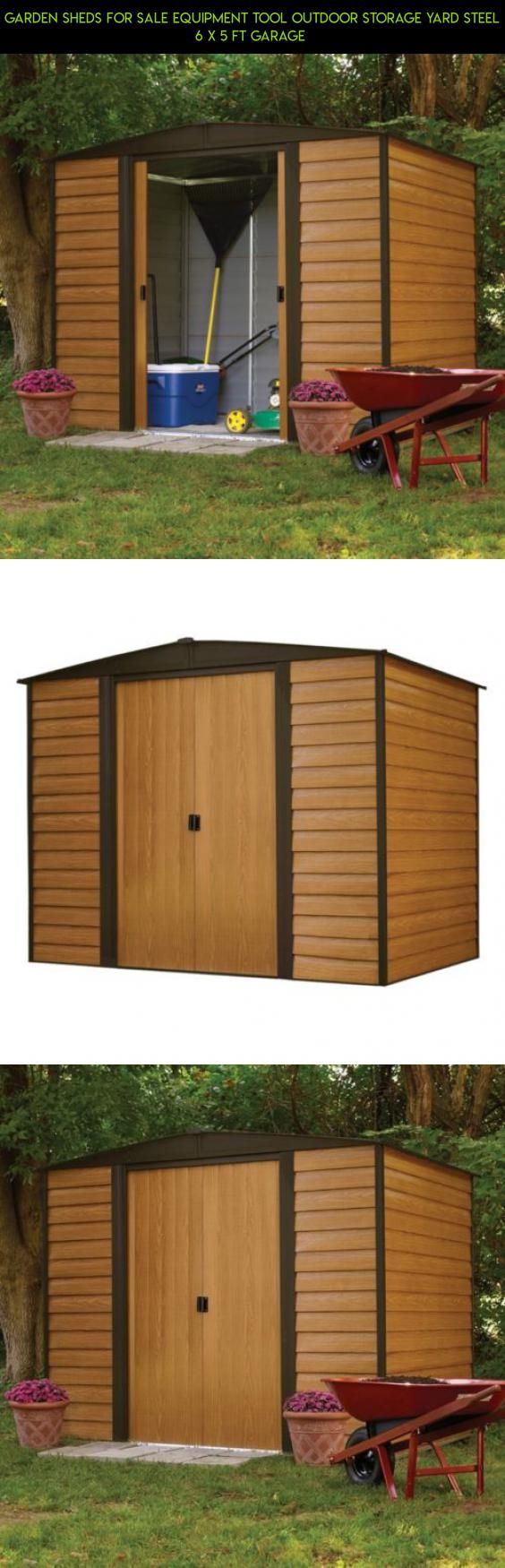 Garden Sheds For Sale Equipment Tool Outdoor Storage Yard Steel 6 x 5 Ft Garage  #plans #racing #shopping #tech #camera #gadgets #products #drone #yard #parts #fpv #storage #kit #technology