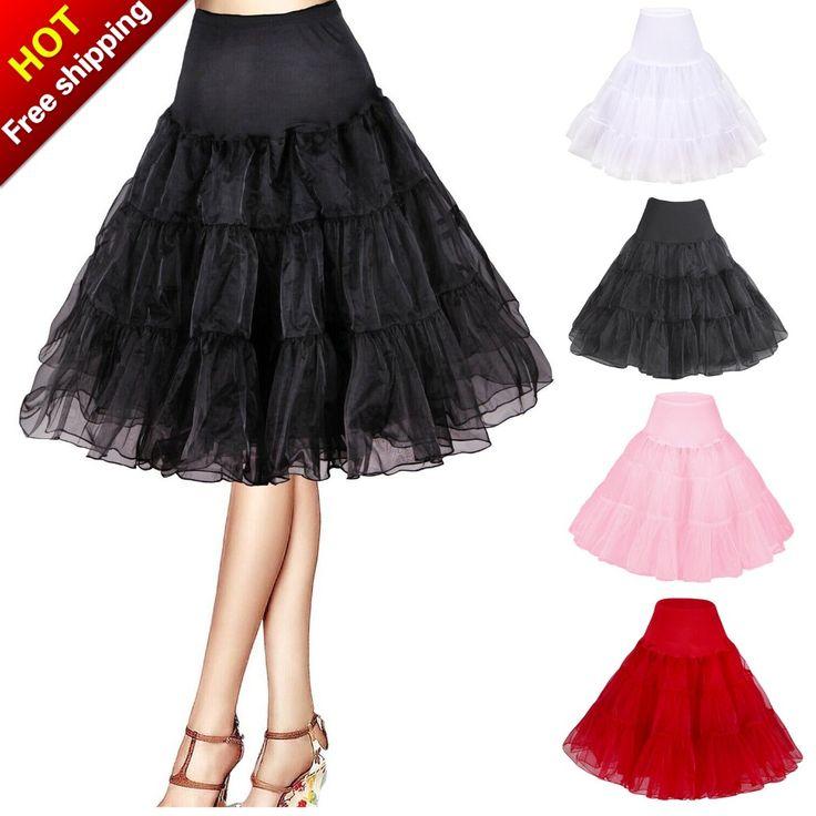 Gratis Verzending Korte Organza Petticoat Crinoline Vintage Wedding Bridal Petticoat voor Trouwjurken Onderrok Rockabilly Tutu(China (Mainland))