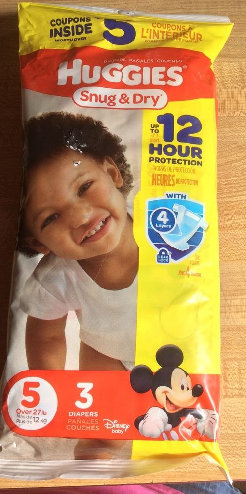 Huggies Snug and Dry Diapers Size 3 New 3 In Pack 12 Hour Protection #Huggies
