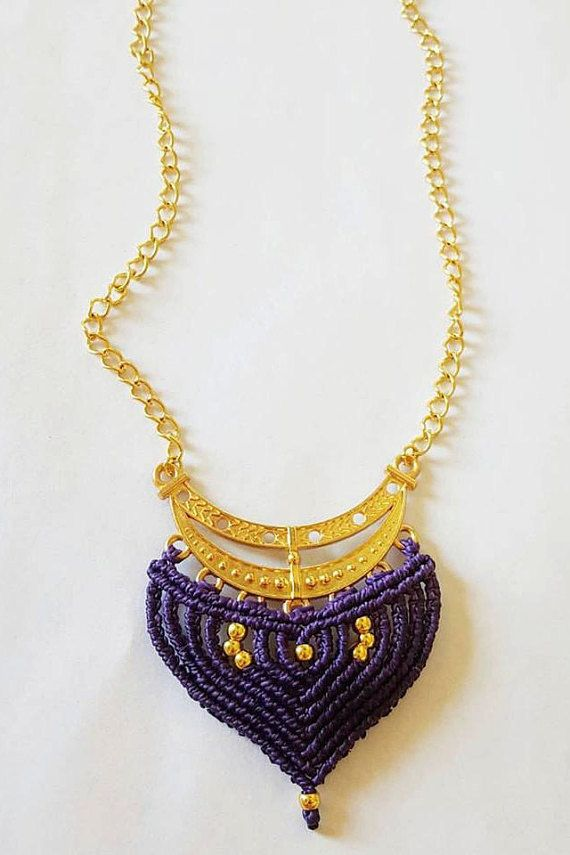 Check out this item in my Etsy shop https://www.etsy.com/listing/471969452/macrame-necklace
