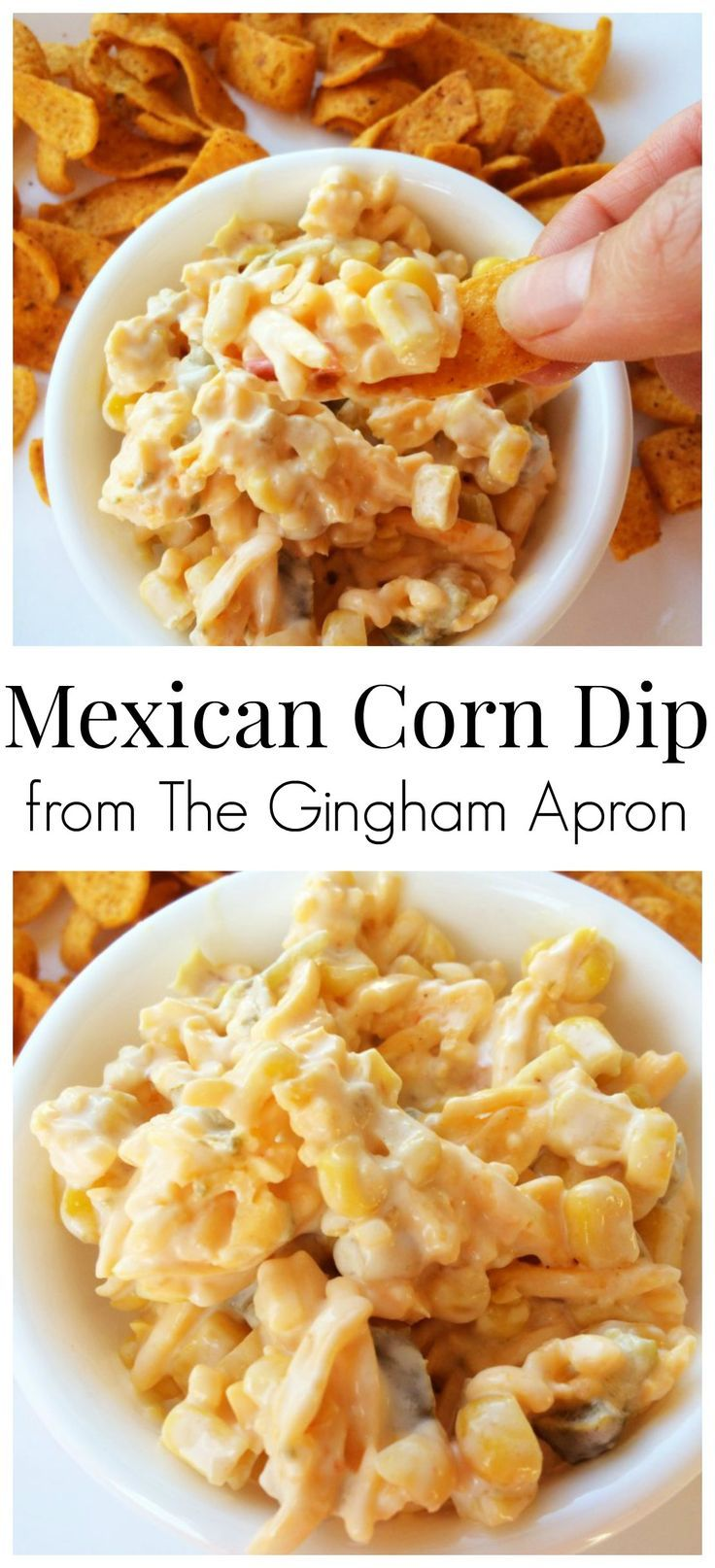 Mexican Corn Dip- with just a few ingredients, this delicious dip is quick and easy!