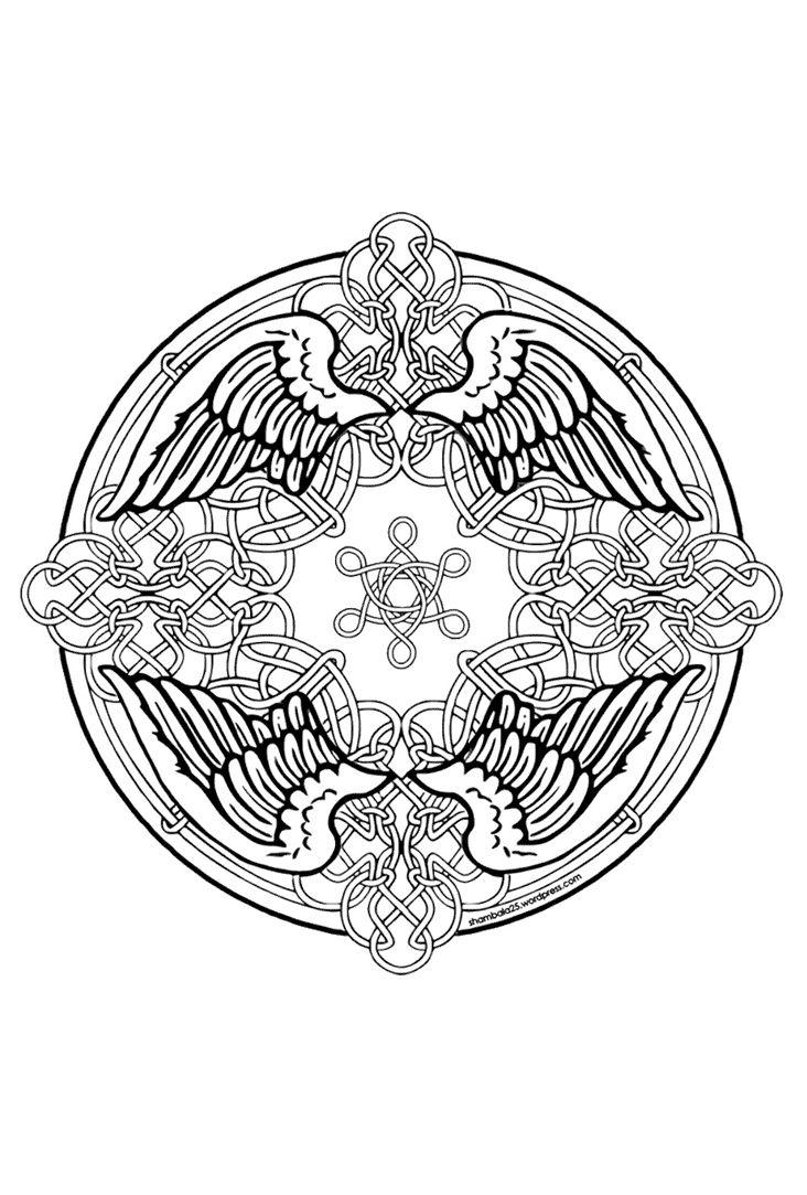 Engel Mandala Mandala Kleurplaten Kleurplaten Kleuren