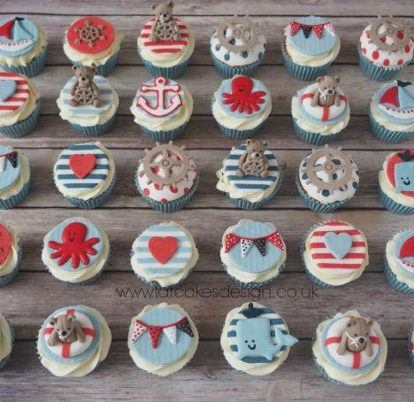 nautical cupcake set