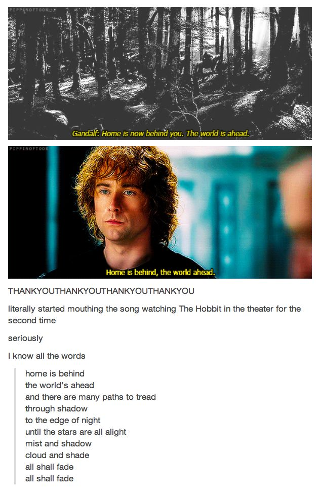 Lord of the Rings and The Hobbit <- The parallels between these two trilogies is astounding sometimes.