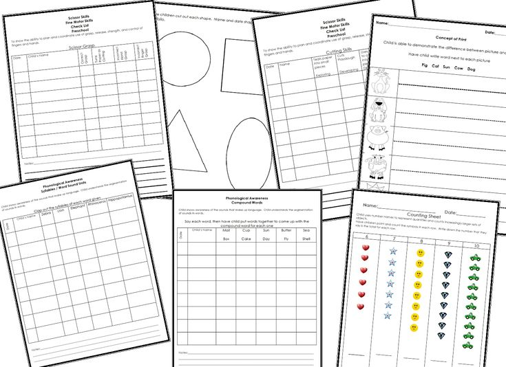 Learning and Teaching With Preschoolers: Checklist and Portfolio Assessment Tools