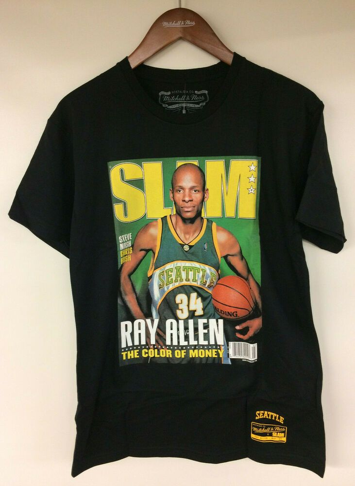 best website 3a8ef 19b02 Mitchell & Ness SLAM Magazine Cover Ray Allen Seattle ...