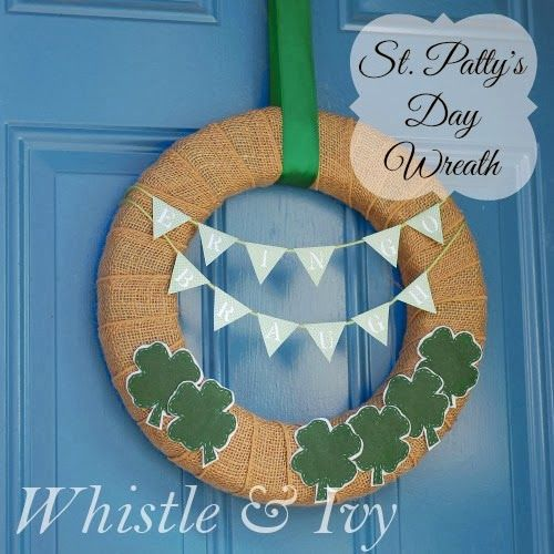 Erin Go Braugh Wreath and St. Patrick's Day Round-up - Whistle and Ivy