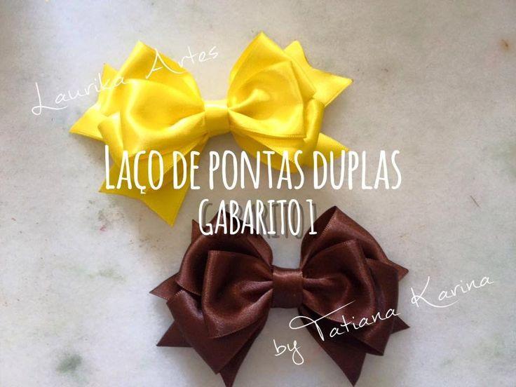 Gabarito 1: Laço com pontas duplas (hair bow) D.I.Y / Tutorial