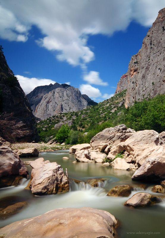 Kazankaya Kanyonu, Yozgat, Turkey . Stream in canyon