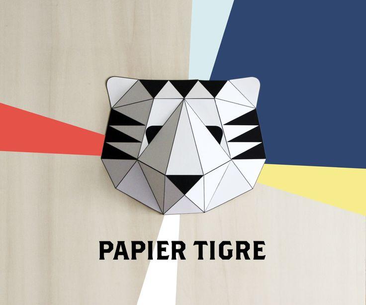DIY - papier tigre paper trophy