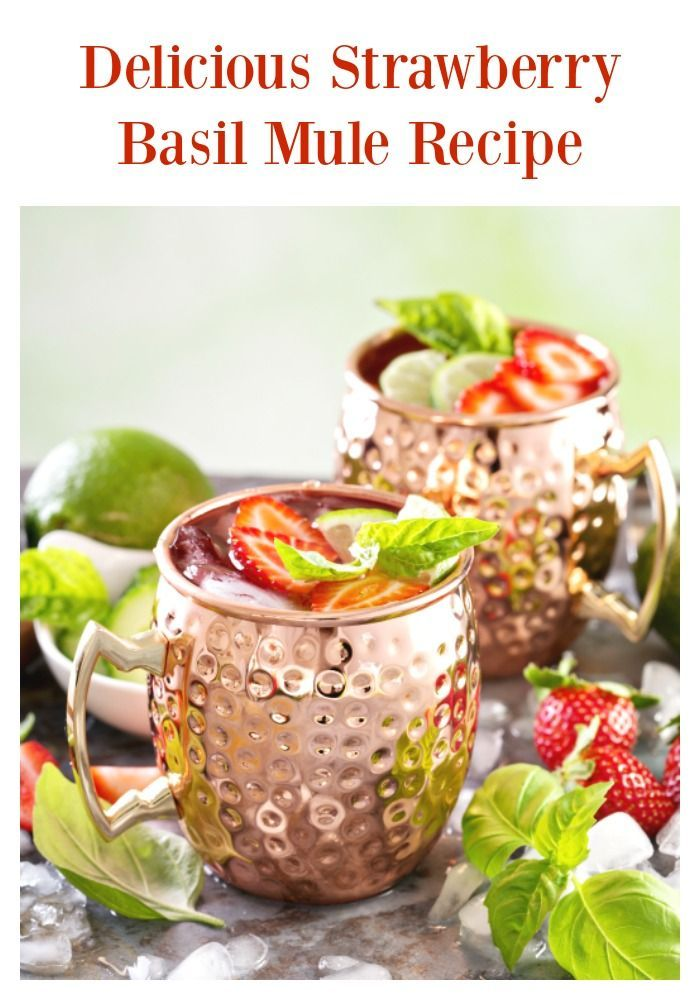 Strawberry Basil Moscow Mule Recipe