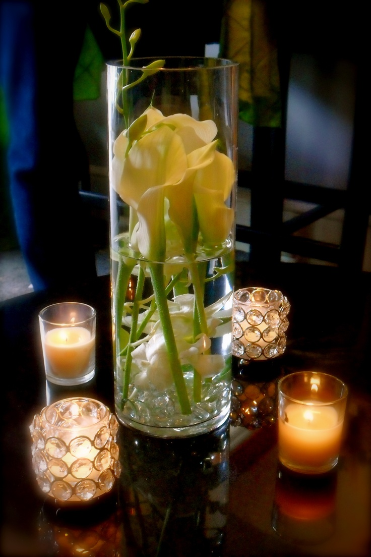 Floral Decor I did for My cousin Andy's wedding.....I love decor on a budget...the vase was only $ 1.00