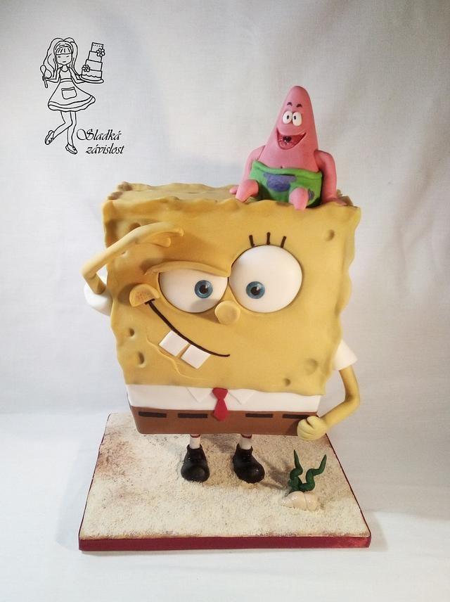 Spongebob By Sladka Zavislost Spongebob Cake Spongebob Squarepants Cake Spongebob