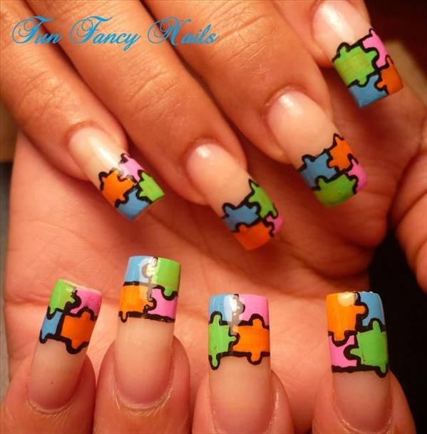 68 best autism nail art images on pinterest nail art autism and autism nail design a little long for me but i love it prinsesfo Image collections