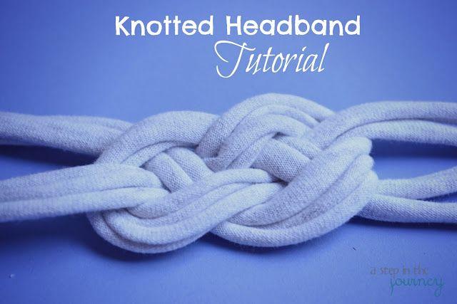 T-Shirt Knotted Headband Tutorial