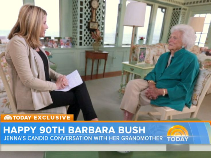 Barbara Bush Turns 90: Her Secret to Aging Gracefully? Pearls http://www.people.com/article/barbara-bush-turns-90-today-show-interview