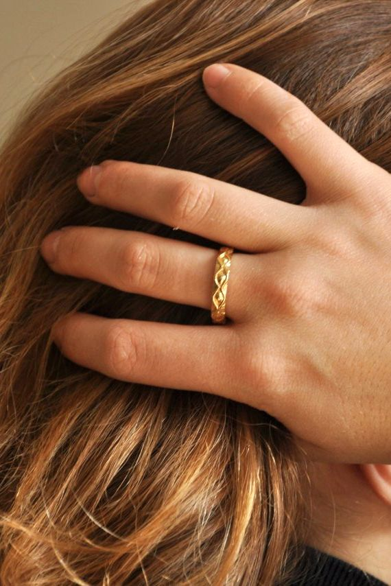 Yellow Gold Wedding Band 14k Solid Gold Band Ring For Etsy Yellow Gold Wedding Band Solid Gold Band Gold Wedding Band