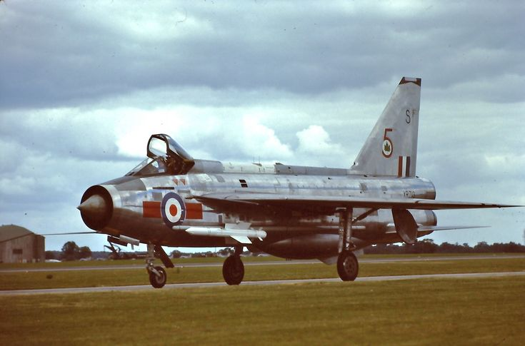 | XR713 | English Electric Lightning F.3, 5 Sq, at RAF Alconbury 28-6-75. 5 Squadron flew the F.3 and F.6  versions from October 1965 to 1987 from RAF Binbrook, defending the east coast. photo c/o David Whitworh