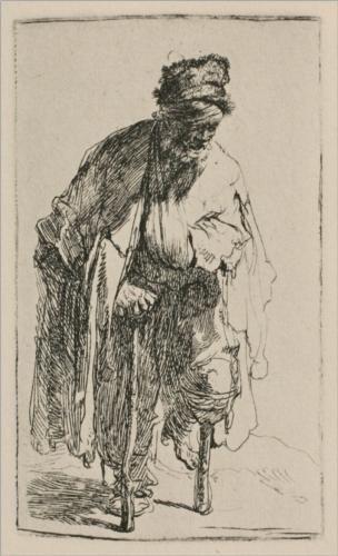 A Beggar with a Wooden Leg - Rembrandt