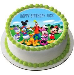 Mickey Mouse Clubhouse 3 Edible Birthday Cake Topper OR Cupcake Topper, Decor