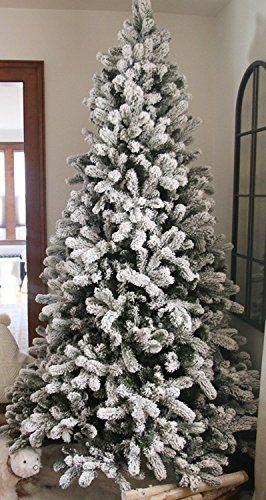 King Of Christmas 75 Foot King Flock Christmas Tree Unlit 52 Wide