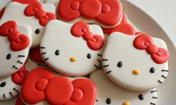 Ιδέες για παιδικό πάρτι: Υπέροχα μπισκότα Hello Kitty με ζαχαρόπαστα! (βίντεο)
