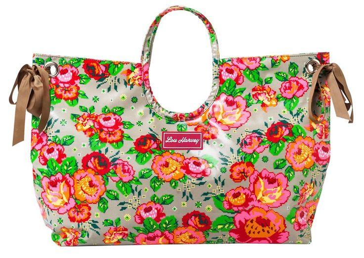 Shop Lou Harvey - Beach Bag : Pixel Flower, R690.00 (http://shoplouharvey.com/beach-bag-pixel-flower/)