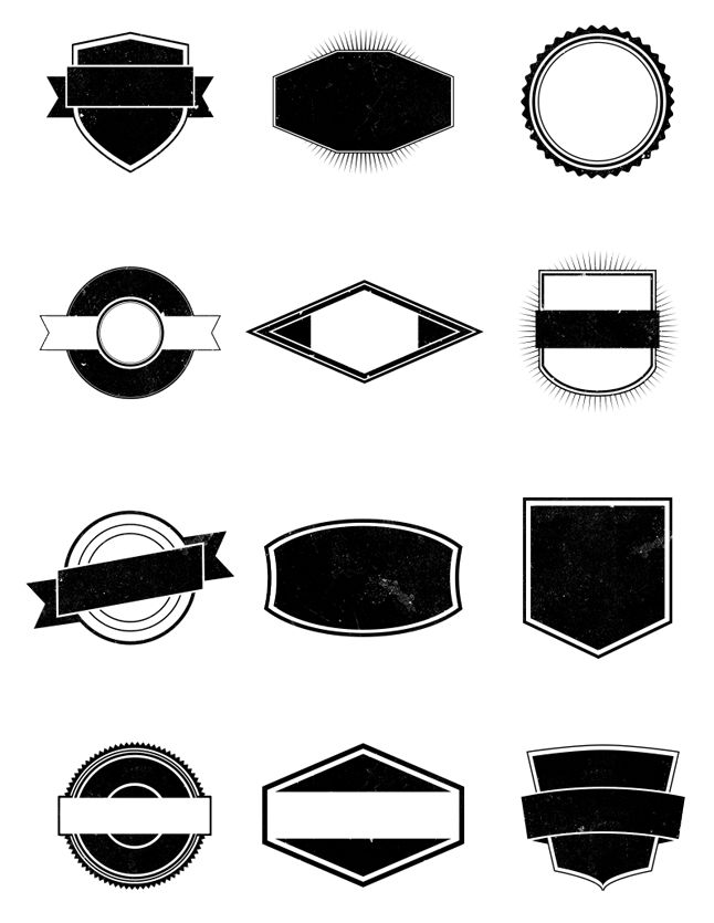 this free pack contains 12 completely vector shapes they are perfect for creating vintage style