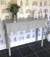 Light GREY Belgravia style CONSOLE TABLE / Hall Table shabby/chic