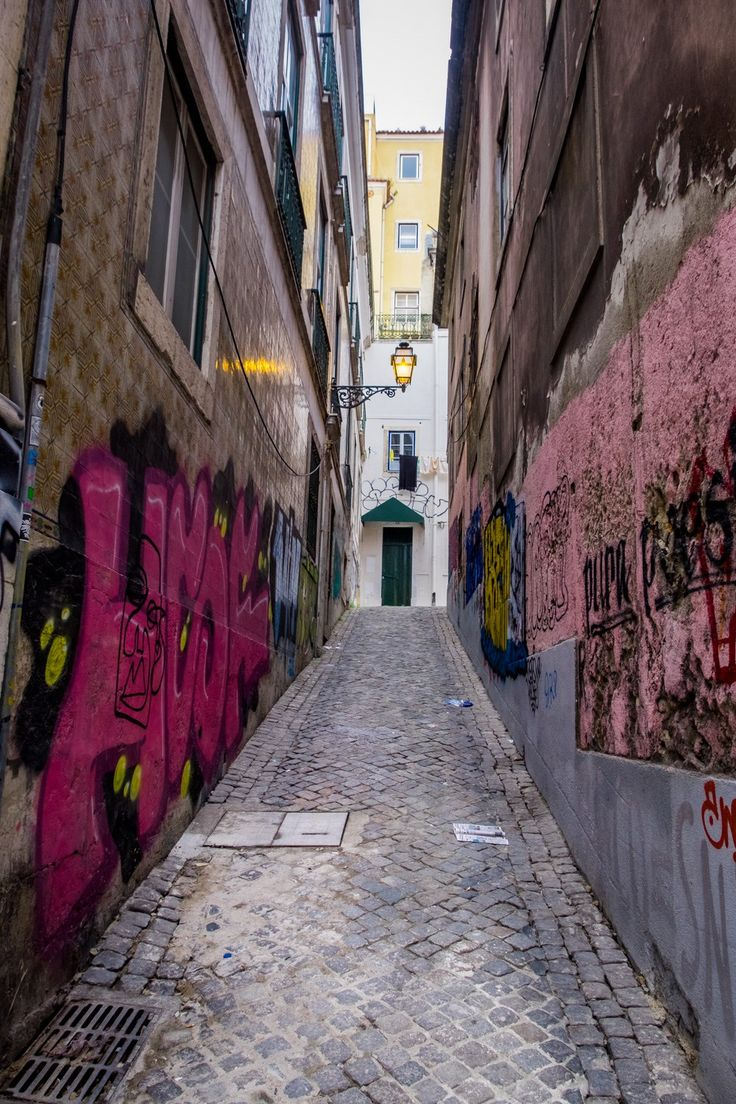 Lisbon, Portugal January 1, 201718 mm: ISO 250: f/13: 1/60 sec. All the little alleyways tucked everywhere throughout Lisbon are awesome. Here are two of my favorites from my afternoon walk near our hotel. I really like the colors, light fixture and graffiti in this one, but the air conditioners were a huge distraction I …