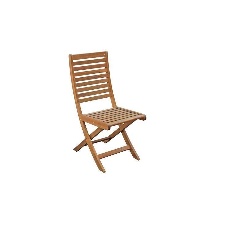 Chaise de jardin en bois Porto brun NATERIAL Chais #bois ...