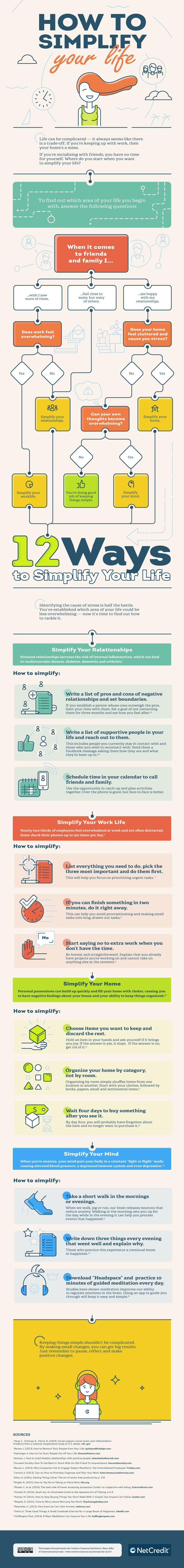 How to Simplify Your Life - #infographic