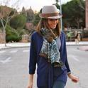 Silvia loves By dime que me quieres  , Dayaday em Chapéus, Zara em Suéter, www.dimequemequieres.net em Jóias, Hollister em Jeans, Pilar Burgos em Botas, Coach em Bolsas