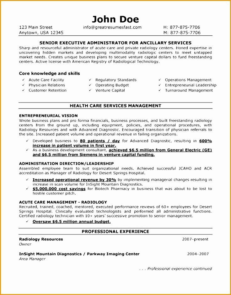 Entry Level Phlebotomist Resume New 7 Example For Hospital Administration Resume Project Manager Resume Resume Free Resume Examples