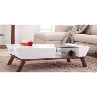 Kress Glass Insert Coffee Table | Overstock.com
