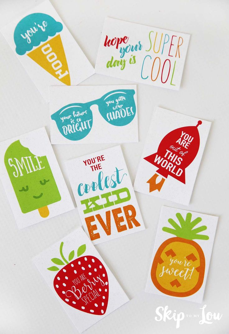 cute printable lunch box notes
