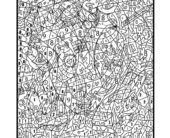 [Coloring Pages] : printable color by number for adults  free coloring pages  difficult color by number pages for adults color by number pages for adults