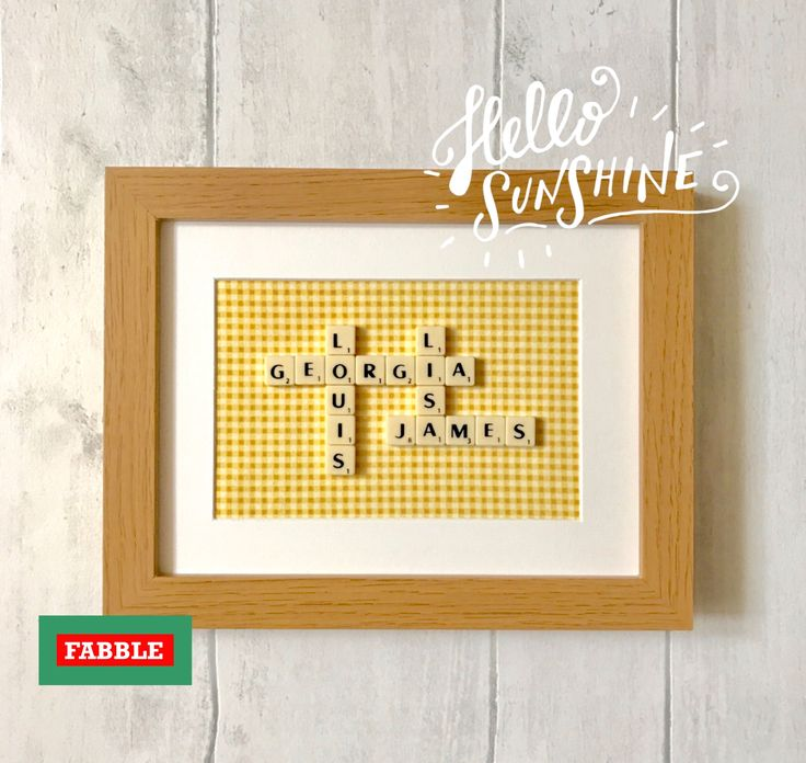 16 best Scrabble family name wall decor by Fabble Frames images on ...