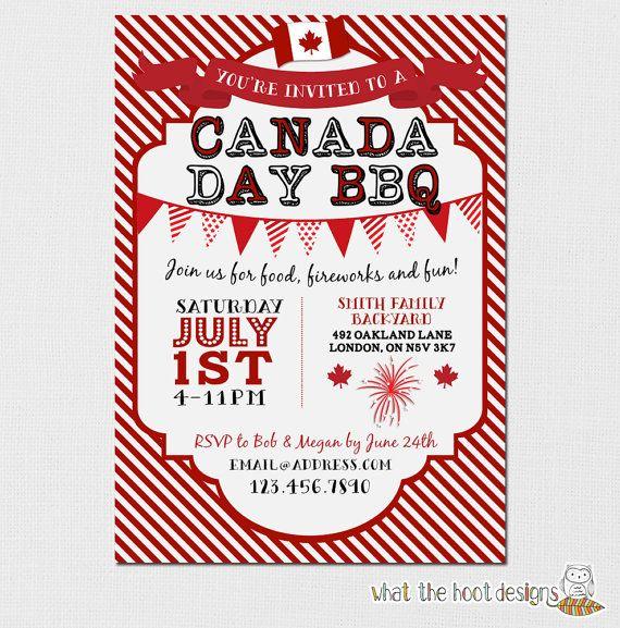 Canada Day Invitation - Canada Day BBQ