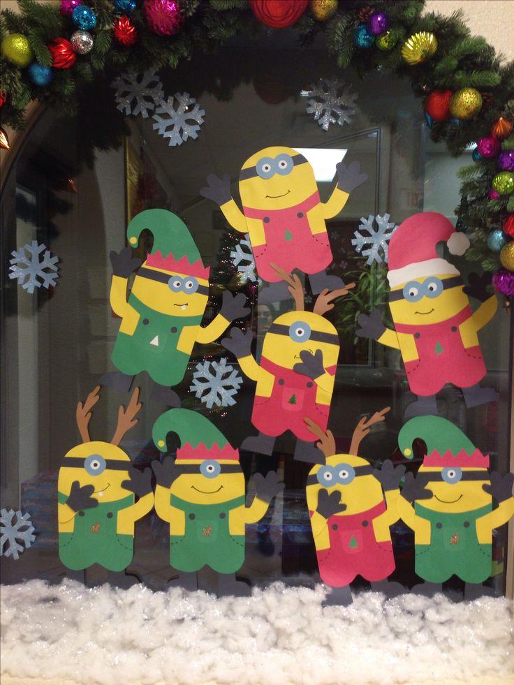 Christmas minions wall decoration