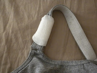 Clever way to stop your sports bra from rubbing your skin raw.