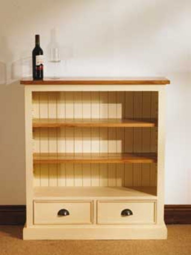 Mottisfont Painted 2 Drawer Bookcase (Cream, The Mottisfont Painted Pine 2 Drawer Bookcase is a chunky yet elegant piece which would suit a spectrum of interior settings. This bookcase is available in a large range of colours such as blue, green http://www.MightGet.com/january-2017-13/unbranded-mottisfont-painted-2-drawer-bookcase-cream-.asp